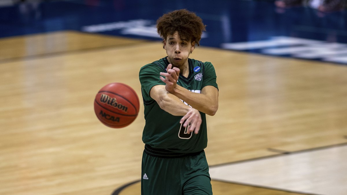 Ohio guard Jason Preston (0) in a first-round game against Virginia in the NCAA men's college...