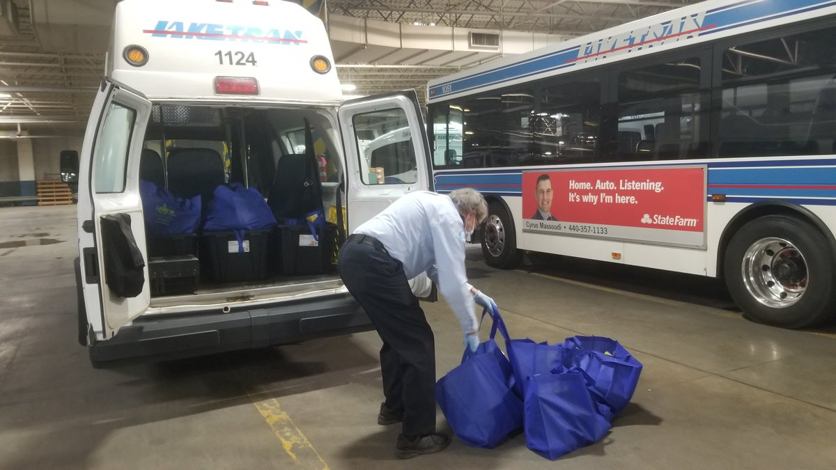 Laketran delivering free weekly bag of groceries to Lake County seniors during coronavirus...