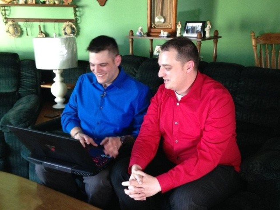 Keith and Chad won't let a hate-filled letter derail their wedding. (Source: WOIO)