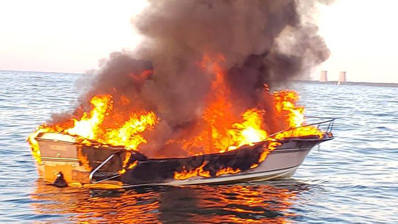 US Coast Guard rescues 4 from Lake Erie after boat fire near Mentor
