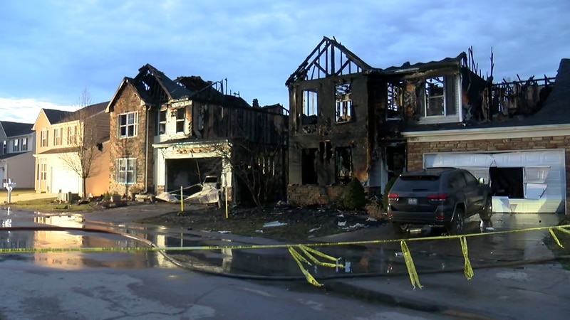 3 Willoughby homes damaged in fire