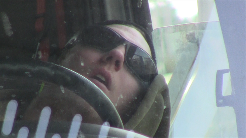 A Cleveland Public Power employee sleeping during work hours. (Source: WOIO)