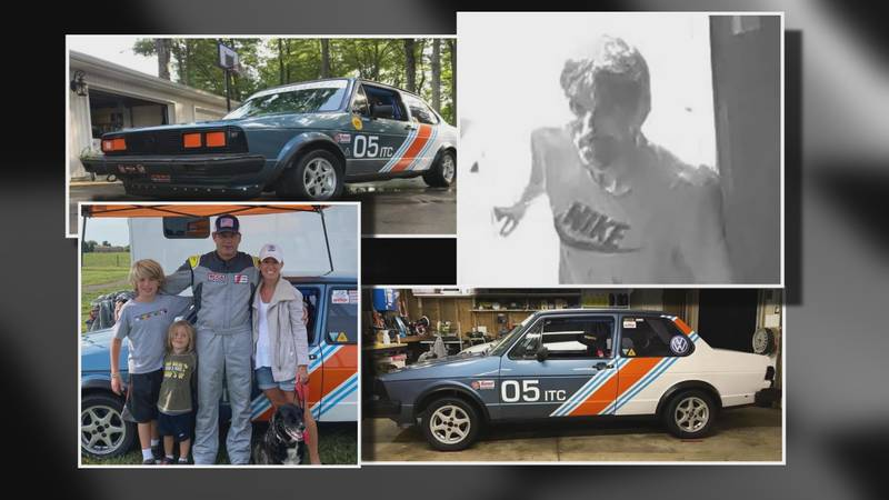 A suspected race car thief (top right) is wanted by North Olmstead Police