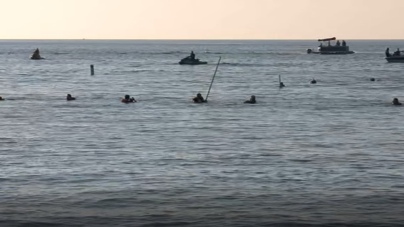 Rescue crews search for missing swimmer