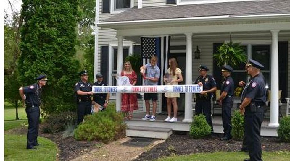 Tunnel To Towers Foundation recently paid off the home for the family of Bellefontaine Officer...