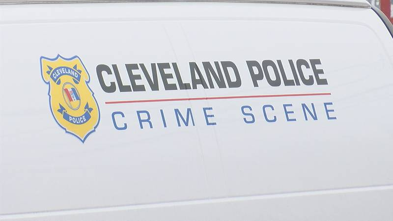 Cleveland Police Crime Scene unit arrives on location after a homicide. February 10th, 2021