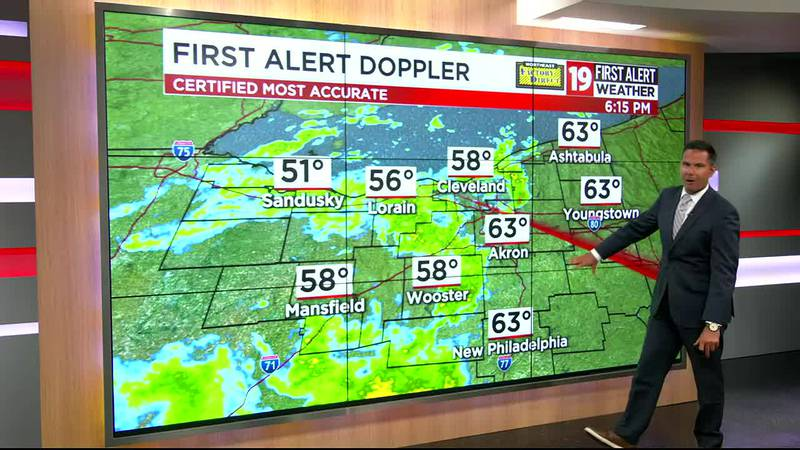 19 First Alert Forecast: Rain and storms Monday afternoon, some strong to severe