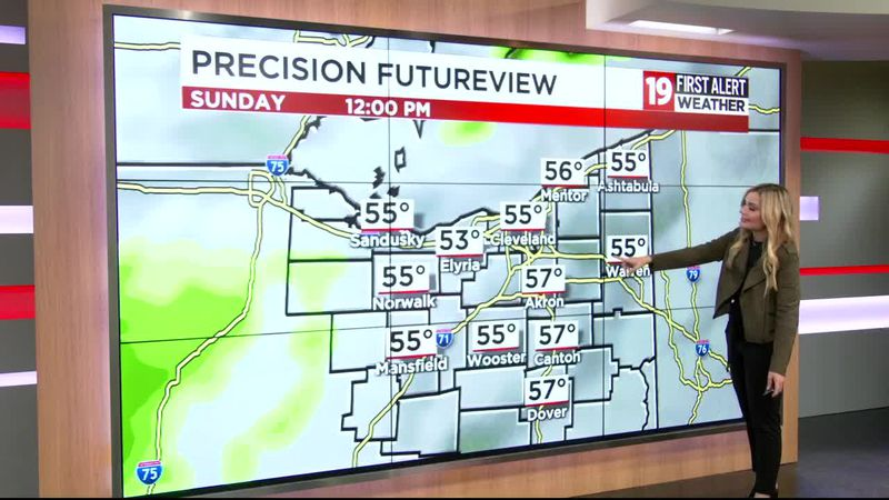 Northeast Ohio weather: Cold for the season, temps in the 50s on Friday afternoon