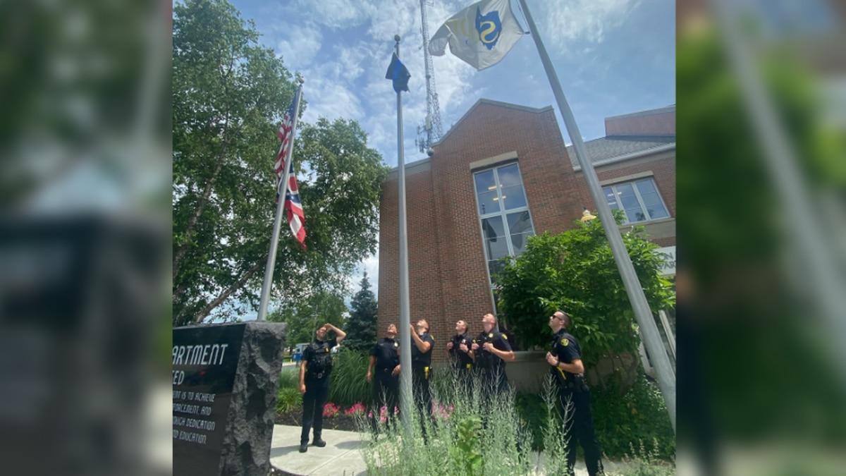 Solon raises original 'Thin Blue Line' flag after removal of American flag version riles...