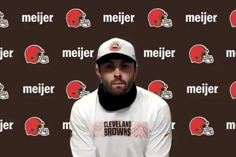 Baker Mayfield at minicamp