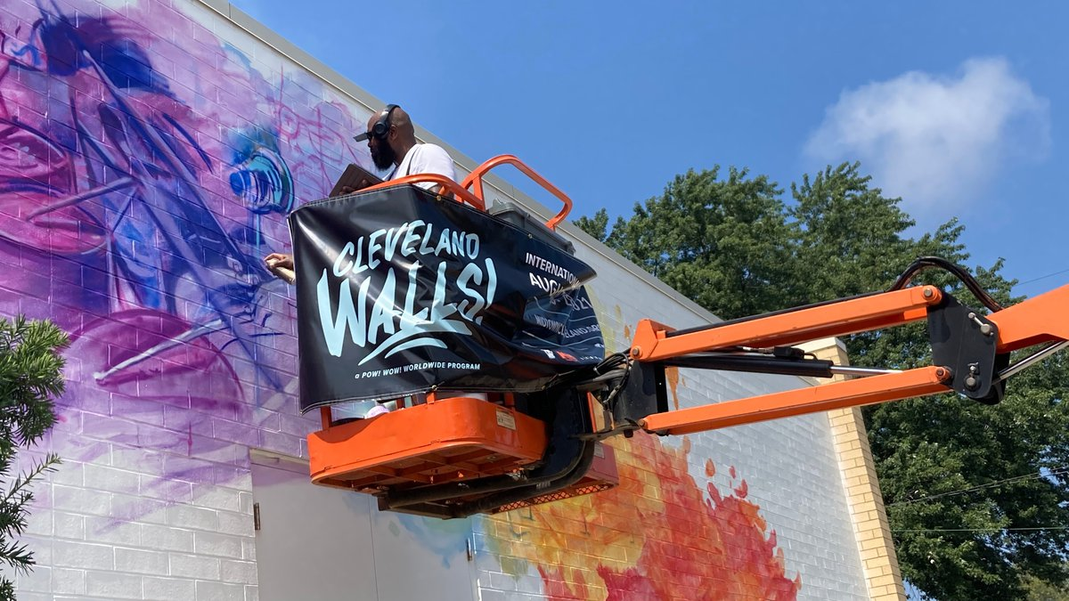 Cleveland Walls brought together local and national artists to paint 19 new murals throughout...