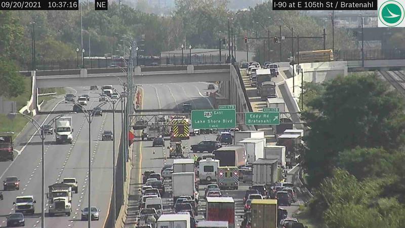 I-90 crash scene
