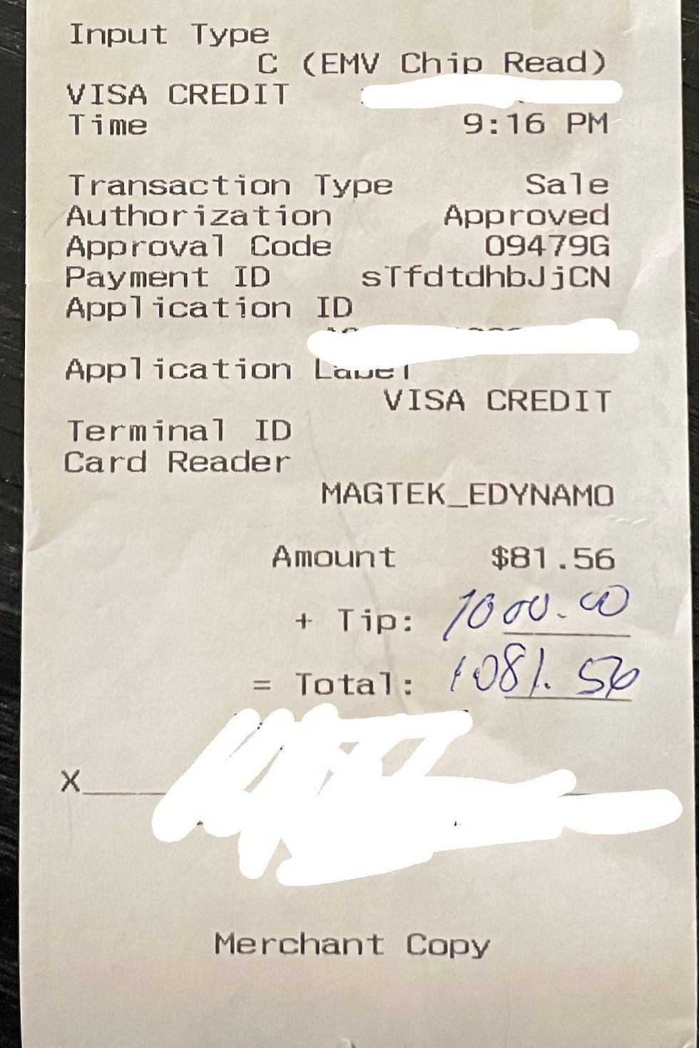 $1,000 tip for The Battleground in Kent