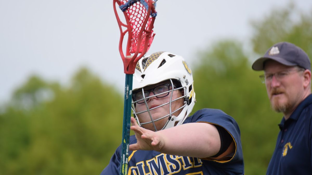 Lacrosse player Owen Novak played in two games for the Olmsted Falls Middle School team after...