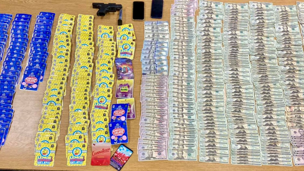 Euclid police seized two cell phone, more than $7,000 in cash, and a loaded firearm after a...