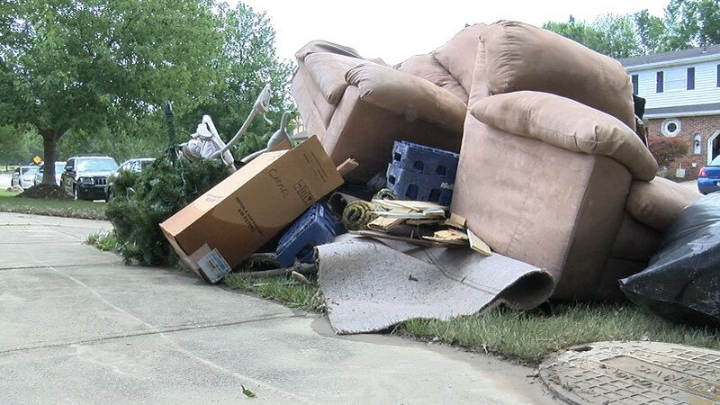 Residents are continuing to cleanup from Friday's flash flooding in Parma.