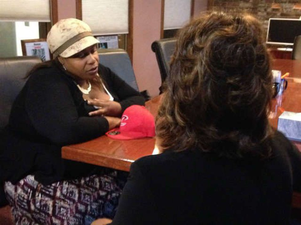 Romona Robinson goes one-on-one with Samaria Rice. (Source: WOIO)