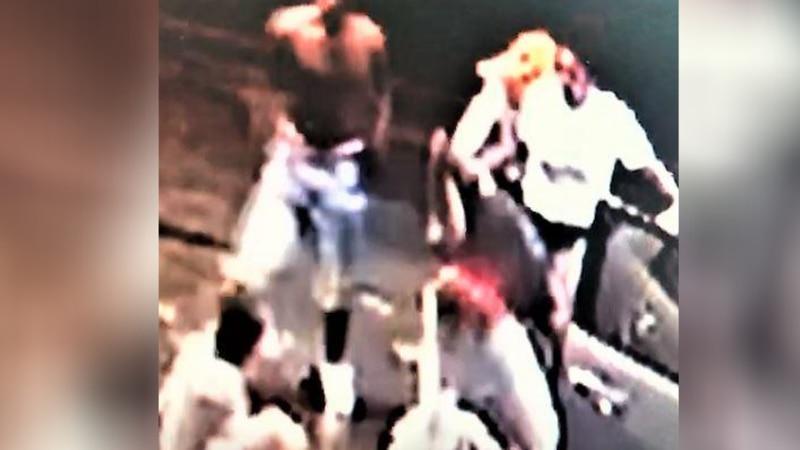 Surveillance footage of assault at gas station