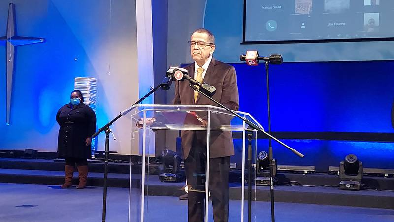 Rev. Dr. Larry Macon promotes taking the vaccine