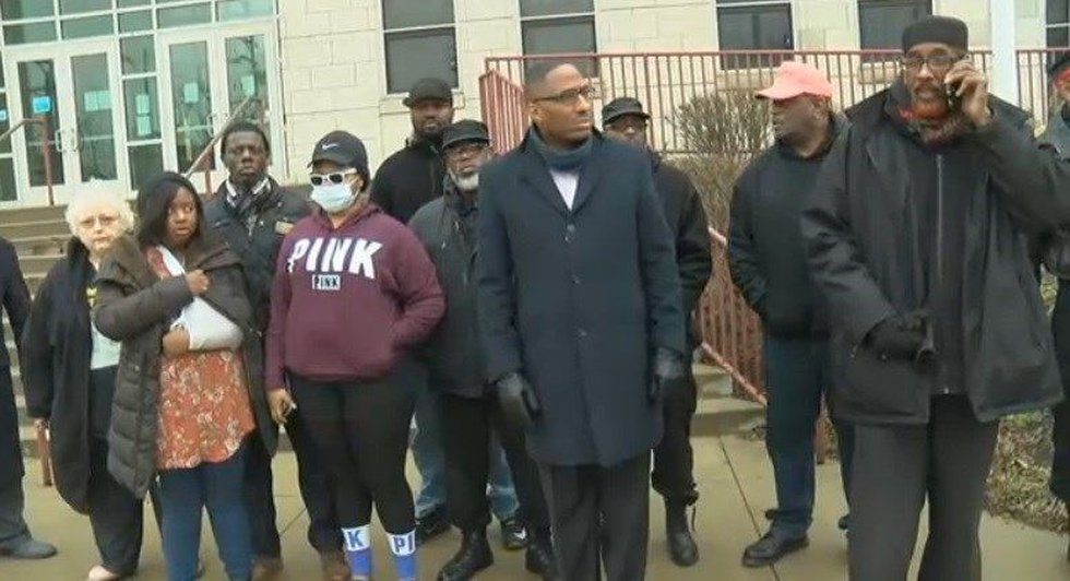 Councilman news conference on Cleveland attacks. (Source: WOIO)