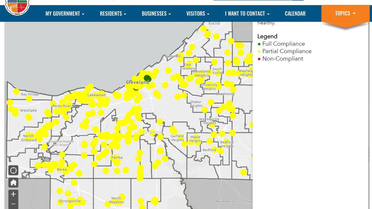 Cuyahoga County launched a website for people to report businesses who are, and are not...