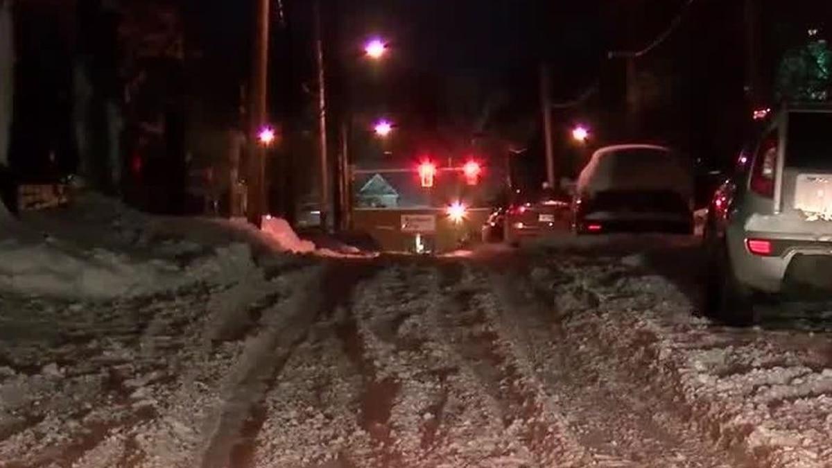 Akron school buses stuck in snow again