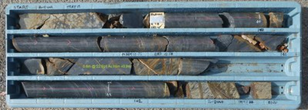 Figure 3 – Drill Core from RWD01 from 39.35m to 42.50m (CNW Group/Fosterville South Exploration...