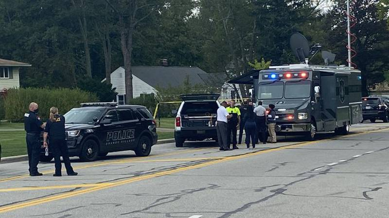 Scene of officer-involved shooting in Woodmere