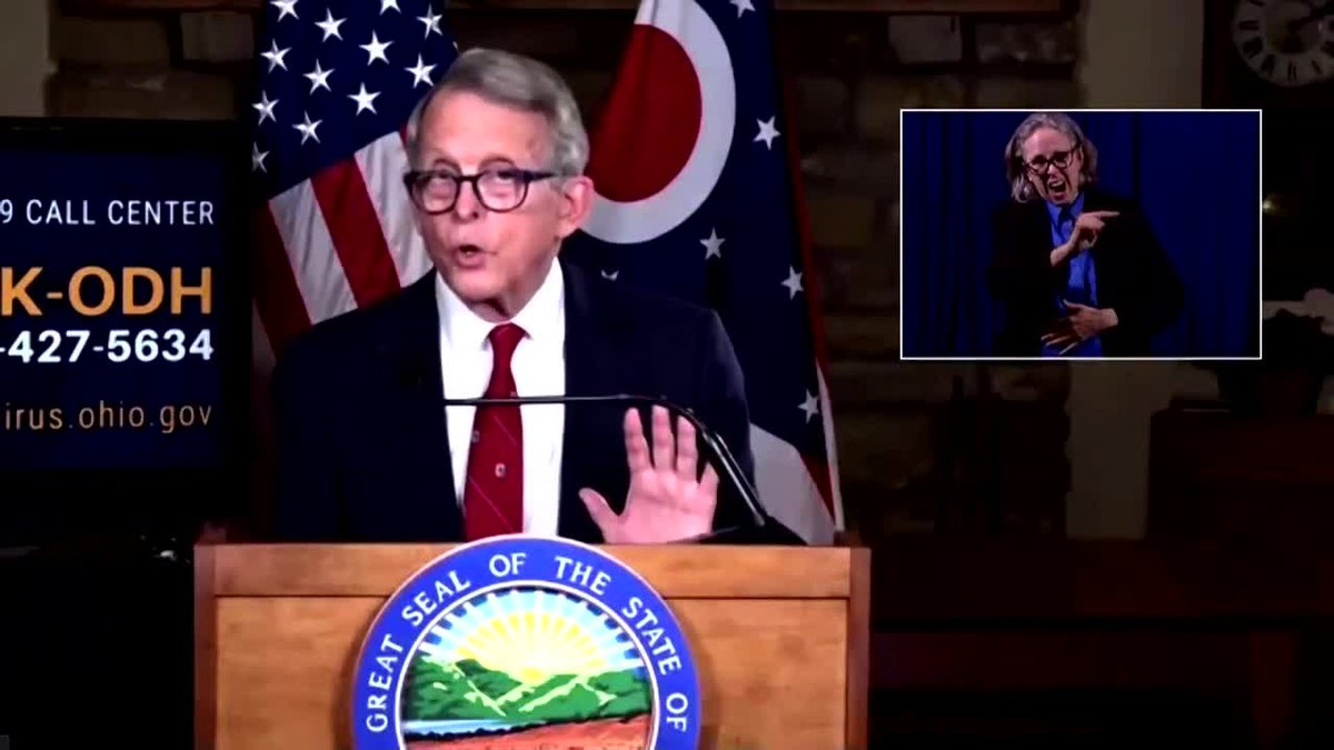 Gov. DeWine suggests that 60% of Ohio's nursing home workers are choosing not to get COVID-19...