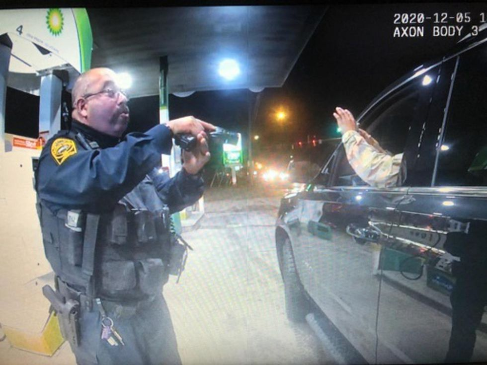 One of the officers who stopped Lt.  Nazario was fired