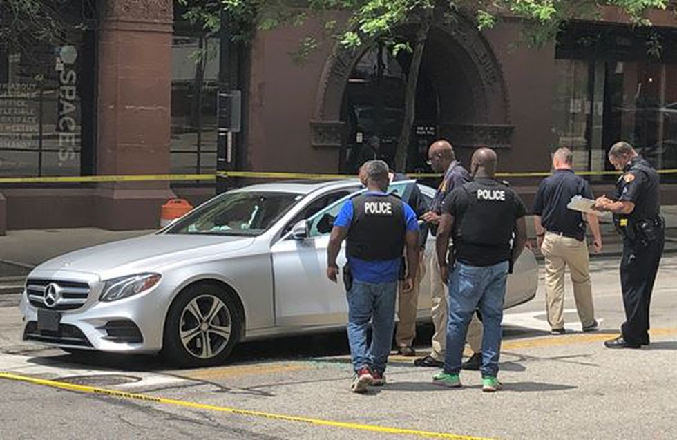 One man was shot while in a vehicle at W. 9th Street and Superior Avenue.