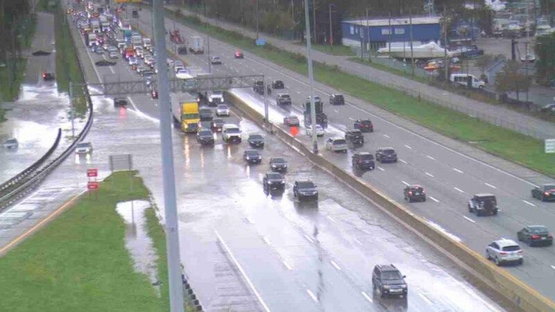 Flooding on I-90