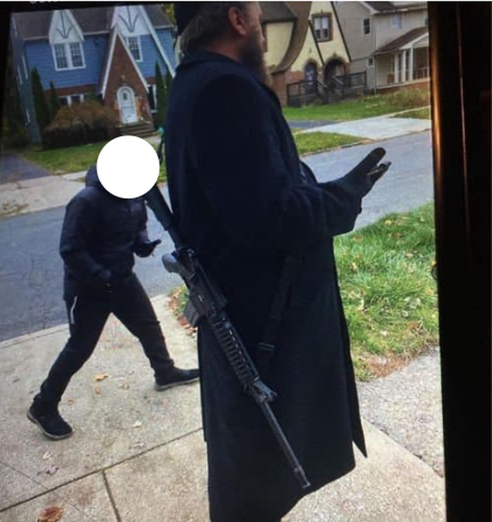 """This photo was posted to social media. The post alleged the man said, """"He's going to kill Black..."""