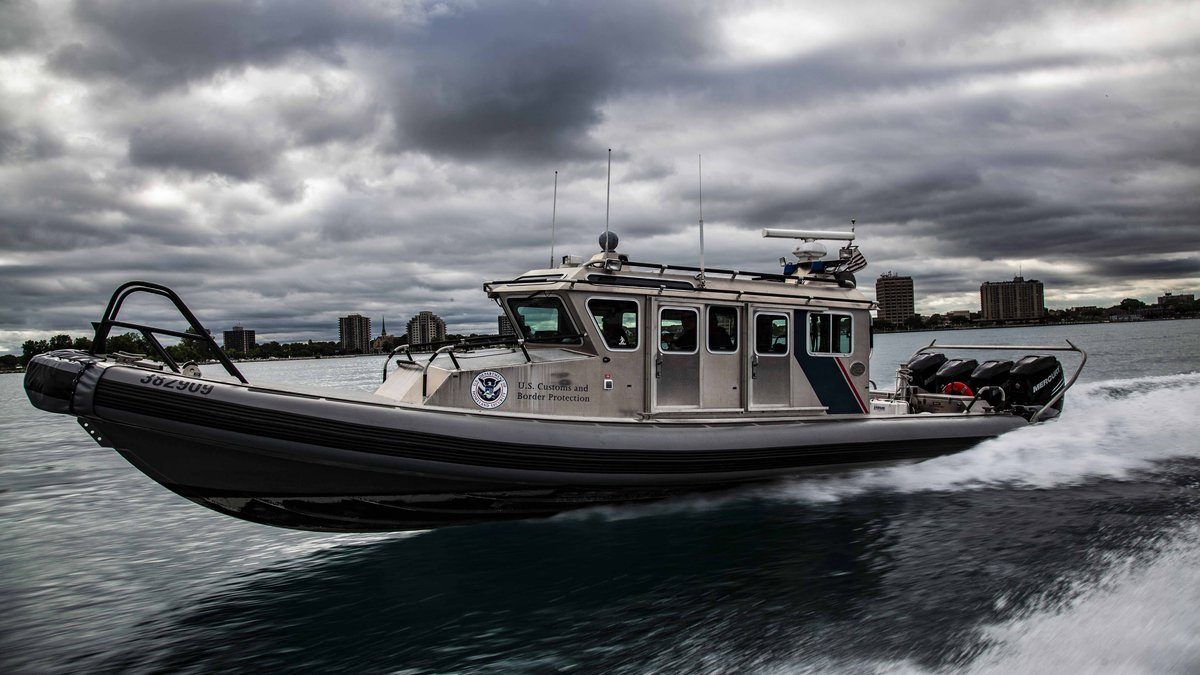 U.S. Customs and Border Patrol's Great Lakes Air and Marine Branch seized a large quantity of...