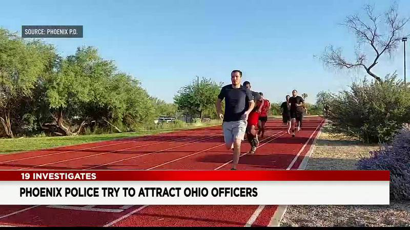 Phoenix Police are working hard to recruit officers here in northeast Ohio.