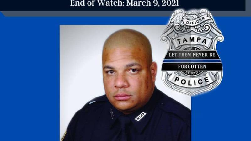 Master Patrol Office Jesse Masden, 45, died in the line of duty Tuesday morning in Tampa, FL.