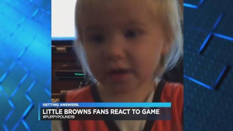#PuppyPound19: Kids react to Cleveland Browns vs. Philadelphia Eagles
