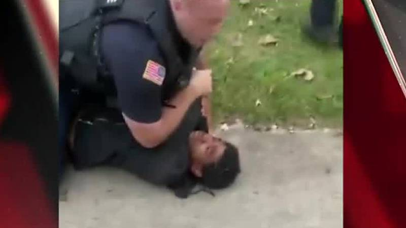 An Elyria police officer was placed on paid administrative leave after a video showing him use...