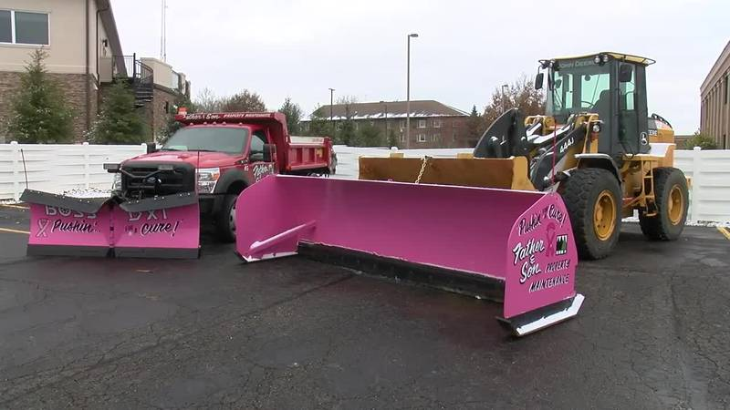 Pink plows for a purpose. (Source: WOIO)