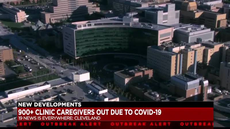 Over 900 Cleveland Clinic caregivers out due to COVID-19