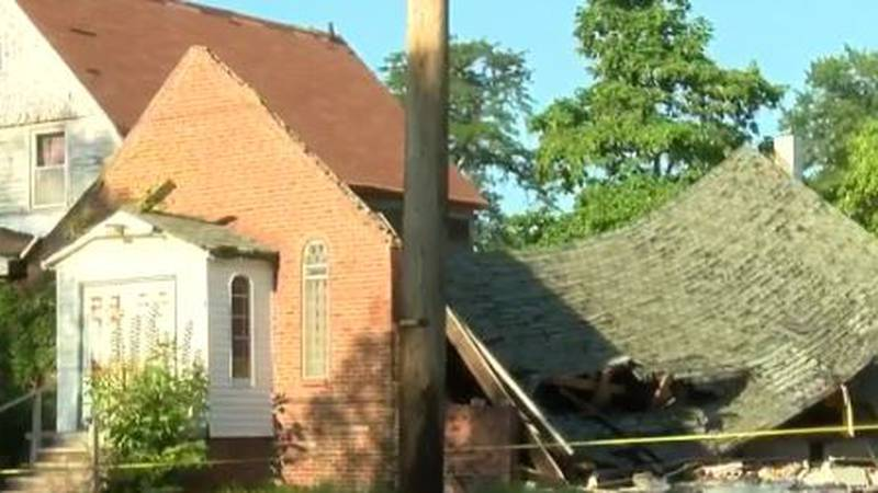 After a Cleveland church collapsed a mess was left behind that neighbors want cleaned up.