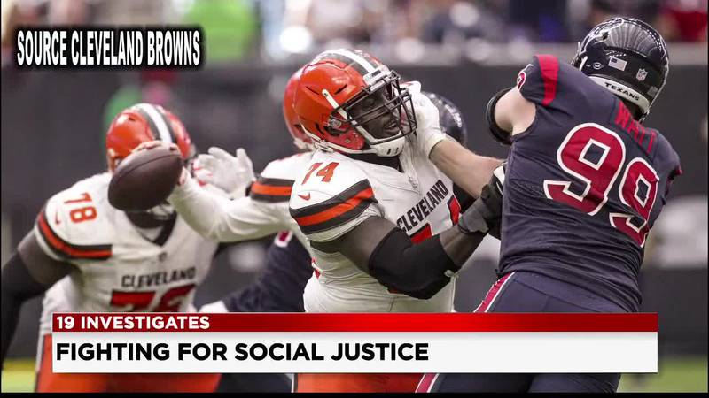Cleveland Browns player fighting for racial equality off the field