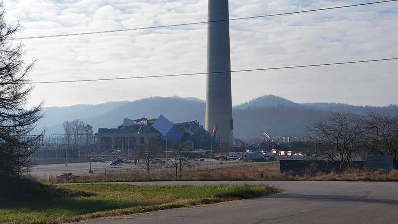 One person has been taken to the hospital following the collapse of the Killen Power Station,...