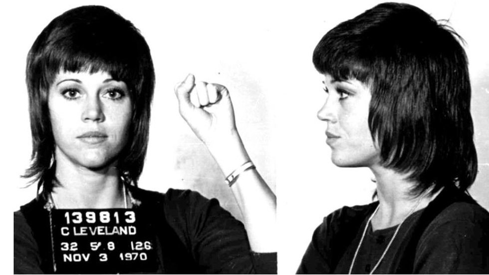 Jane Fonda repeats history with rally arrest, 30 years earlier she was arrested in Cleveland...