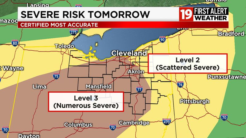 Strong storms expected Friday afternoon