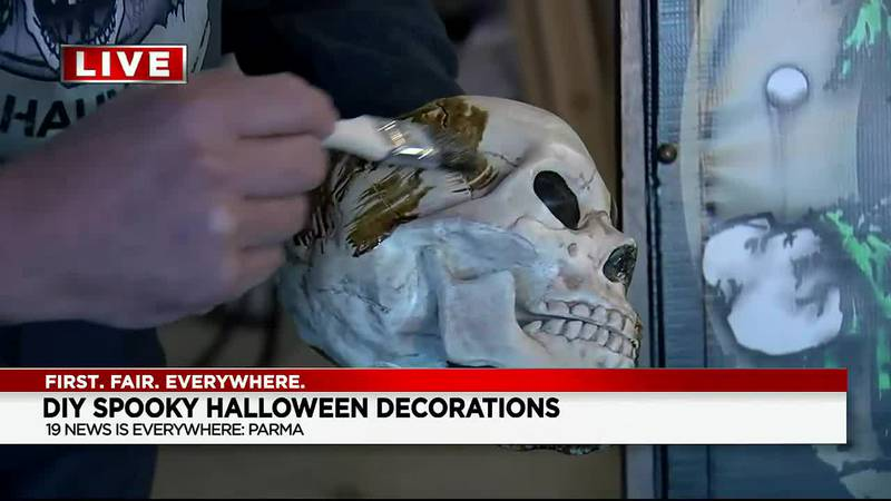 Learn how to make a spooky skull with the Cleveland Haunt Club