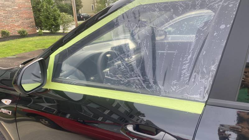 The victim said the glass to fix her car window is back ordered because of the pandemic. So, it...
