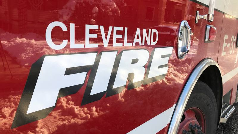 An apartment complex caught fire in the 800 block of East 143 Street in Cleveland on Wenesday.