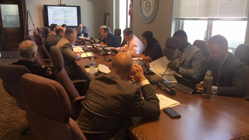 Cleveland Public Safety Committee members at Wednesday's meeting