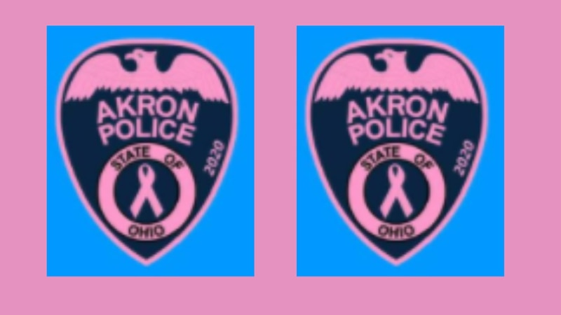Akron Police Department officers are wearing pink patches throughout Oct. to raise awareness...